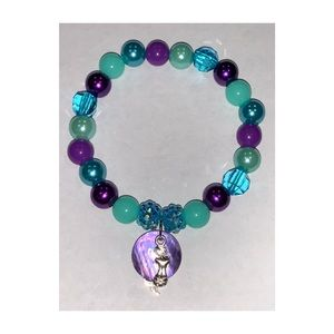 Mermaid with Shell Charm Bracelet